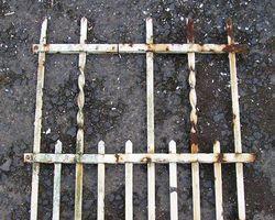 Zaun, Gitter, Zaunelement, Tür, Tor, Schmiedeeisen, geschmiedet