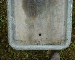 Badewanne, Zinkwanne, Wanne, Blech, Zinkbadewanne, Teich, für Wasserpflanzen