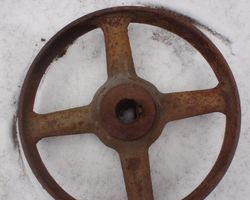 Eisenräder; Rad, Räder, Wagenrad, Eisenrad, Sprossenräder, Transmissionsräder