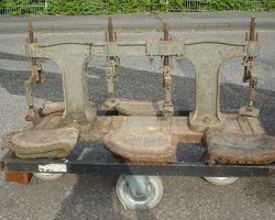 Schuhpresse,  Presse, Schuhmacher, Eisen Leder