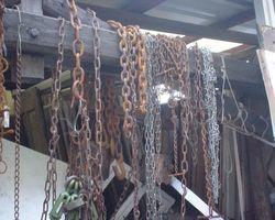 Ketten, Gliederketten, Eisenkette, rostig, Eisen, Dekoration