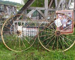 Wagenrad, Rad, Räder, Wagenräder, Eisenräder, Sprossenrad, Landwirtschaft