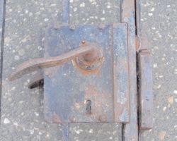 Schmiedeeisentor, Gittertür, Zaunelement, Tor, Gitter, Einfahrtstor, zweiflügelig