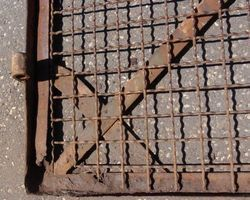 Gitter, Gittertor, Tor, Zaun, Einfahrtstor