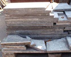 Basaltplatten, Bodenbelag, Steinplatten, Blaubasalt, Basalt