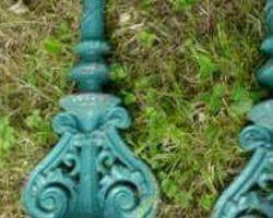 Geländerstäbe, Gusseisen, Treppengeländer, Brüstungsgeländer, Eisenstäbe, Zierelemente, Gartendekoration