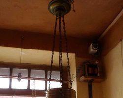 Lampe, Hängelampe, Messing- Leuchte, Jugendstil