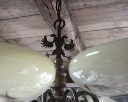 Lampe, Deckenlampe, Kronleuchter, Glasschalen