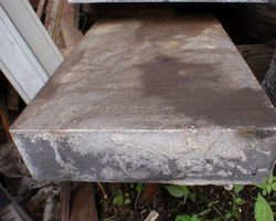 Tischplatte, Steinplatte, Basaltstufe, Treppenstufe, Basalt