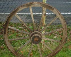 Wagenrad, Holzrad, Rad, Wagenräder, Speichenrad
