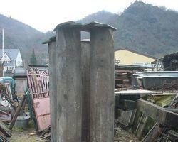 Säulen, Fachwerk, Eiche, Achtecksäule, Eichenfachwerkbalken