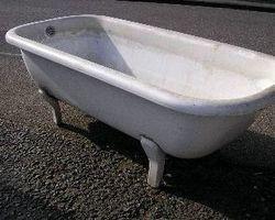 Badewanne,  Blech, Emailiert, Gartenteich