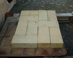 Steine, Schamottstein, für Ofenbau, Ziegel