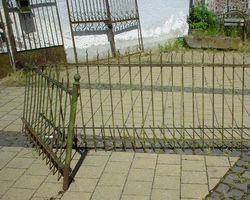 Zaun, Zäune, Gitter, Zaunelemente, Schmiedeeisen