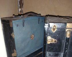 Schrankkoffer, Reisekoffer, Überseekoffer, Garderobe, Koffer