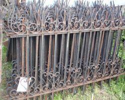 Zaunelemente, Zaun, Die Stäbe sind aus holen Stangen. Der Zaun ist daher sehr leicht.
