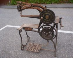 Schusternähmaschine, Nähmaschiene, Gusseisen, Patent, Elastique