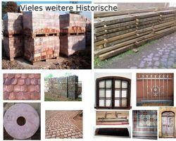 Mosaikpflaster Pflastersteine Pflaster aus antiken Backsteinen Ziegeln Klinkern