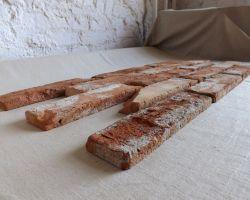 Antikriemchen Antik Riemchen 5 m² incl. Lieferung innerhlb 5 Tage Steinriemchen alter originaler Mauerstein ökologische Wandgestaltung Wandpanele antik