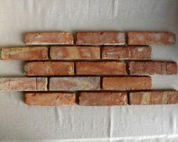 Küchenrückwand Fliesenspiegel Spritzschutz handstrich Ziegelsteine Mauerziegel Feldbrand Backsteine Verblender Wandgestaltung Fliese
