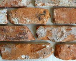 Klassisch rote Ziegel extra rustikal gerumpelte Verblendsteine Klinkerriemchen original Mauerziegel Loft Steinwand Wandverkleidung Wandpaneele Ziegelwand Fliesen
