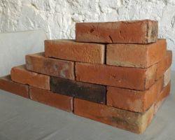 Alte Ziegelsteine rote Klinker doppelt gebrannt, gebrauchte Wasserstrich – Ziegel, Handform – Ziegel Backstein Feldbrand Sichtziegel Gartengestaltung Ruinenmauer