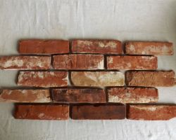 Antikriemchen Ziegelverblender Spaltriemchen Retroriemchen echte Backsteine Handformriemchen Ziegelsteine Klinker Riemchen Backsteinwände gebrauchte Steine Rückbausteine
