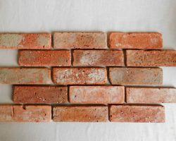 Winterspecial rustikale Antikriemchen rote Klinker Riemchen Retro Wand alte Ziegel Verblender used Look Loftoptik Steinwand Wandpaneele Fliesen