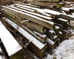 alte Holzbalken Scheunen Blk Antik Holz Abverkauf f Händler 3 LKW