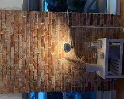 Antik Riemchen Retro Wand alte Ziegel Verbender Spaltriemchen echte Backsteine