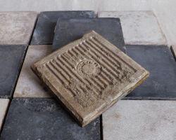 Antike historische Boden Küchen Fliesen Kachel Schachbrett vintage used look