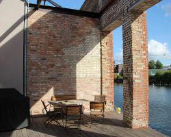 Mediterran Mauer Riemchen Antik Verblender Wand Gesaltung Handform Backsteine Landhaus