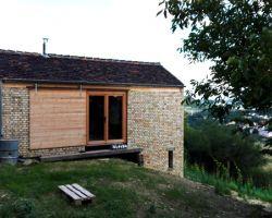 Historische Dachziegel Hohlpfanne Antik Handstrich Dach Pfanne Deckung Landhaus rustikal