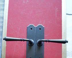 Drückergarnitur Eisen alt grün