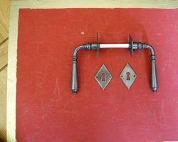 Drückergarnitur Eisen altgrün